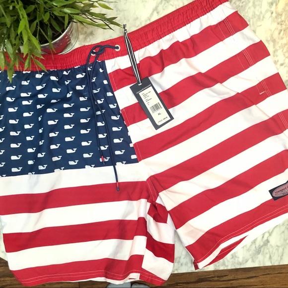 64032f5eee Vineyard Vines Swim | Usa Flag Chapple Trunks | Poshmark
